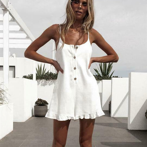 Sleeveless Solid Playsuit