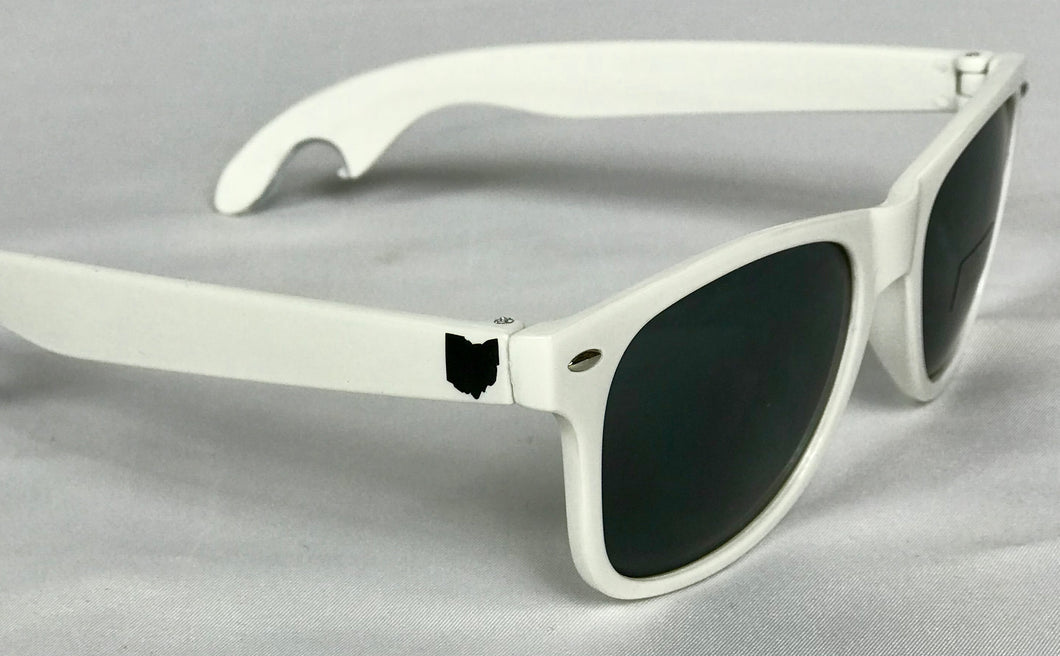 BROHIO Sunglasses(Bottle Opener) White