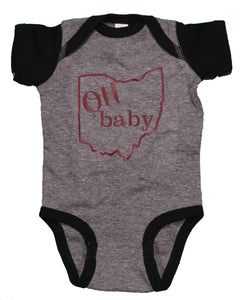 OH Baby Black and Gray Onesie