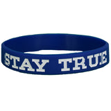 Blue and White Stay TRUE Wristband