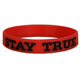 Red and Black Stay TRUE Wristband