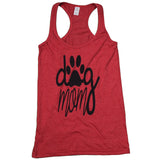 Dog Mom Heather Red Tank