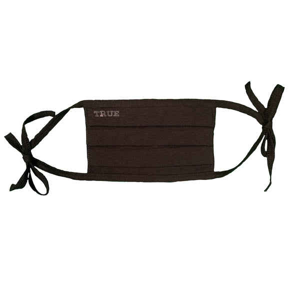 Blank Pleated Black Cloth Face Mask from OhioTRUE