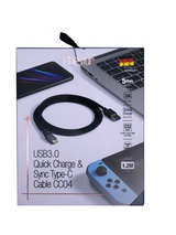 USB3.0 Quick Charge & Sync Type-C Cable CC04