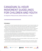 Canadian 24-Hour Movement Guidelines for Children and Youth( 5-17): Tear Sheets
