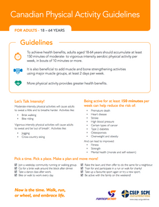 Canadian Physical Activity Guidelines for Adults (18-64)