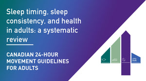 Canadian 24-Hour Movement Guidelines for Adults: Sleep Timing, Sleep Consistency, and Health in Adults: a systematic review