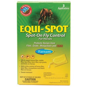 EQUI-SPOT SPOT-ON FLY CONTROL FOR HORSES 3PK