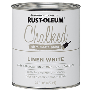Rust-Oleum CHALKED PAINT Ultra Matte Paint Linen White