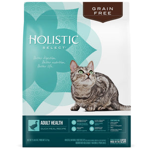 Holistic Select Natural Grain Free Duck Meal Dry Cat Food