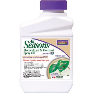 BONIDE ALL SEASONS HORTICULTURAL & DORMANT SPRAY OIL CONCENTRATE 1 PT