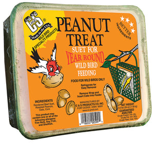 Peanut Treat Suet for Year Round Bird Feeding