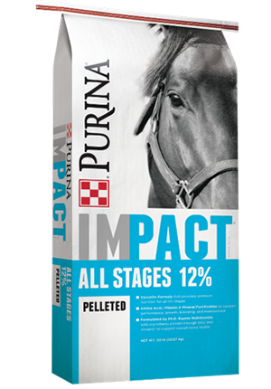 Purina® Impact® All Stages 12% Pellet Horse Feed