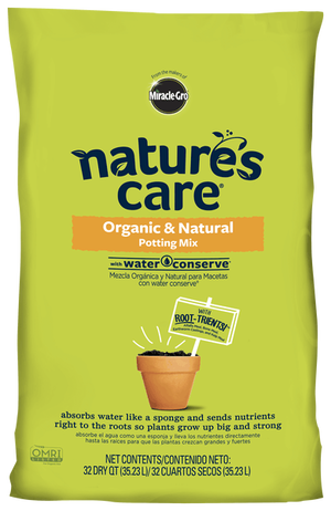 Miracle-Gro® Nature's Care® Organic & Natural Potting Mix with Water Conserve®