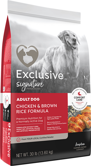 Exclusive® Adult Dog Chicken & Brown Rice Formula