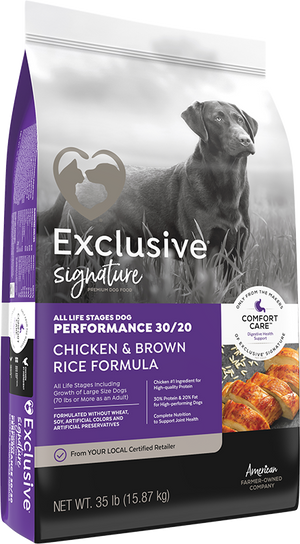 Exclusive Performance 30/20 Chicken and Brown Rice Formula All Life Stages