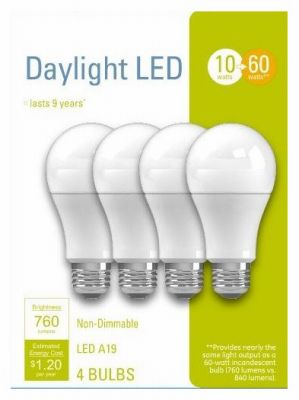 GE LED Light Bulbs, A19, Daylight, 760 Lumens, 10-Watt