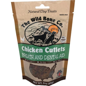 The Wild Bone Co. Chicken Cutlets Dog Treat Breath and Dental Aid
