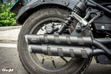 Honda Rebel CMX 300 500 GEM CLASSIC RENZO V2 twin exhaust classic come with slipon