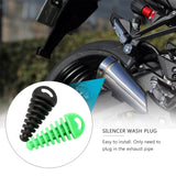Exhaust Pipe Silencer Wash Plug 15-38mm Rubber Exhaust Silencer For  Motorbike Motorcycle Pipe Muffler