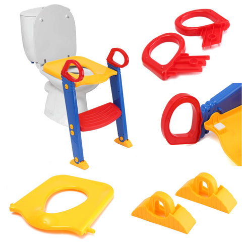 Image of KIDS POTTY TRAINING SEAT WITH STEP STOOL LADDER