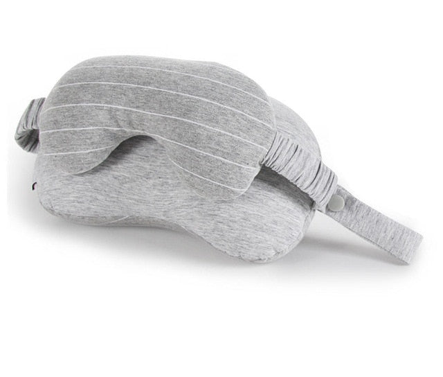 Travel Neck Pillow & Eye Mask & Storage Bag with Handle Portable Comfortable