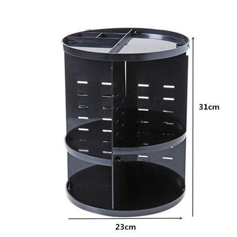 Image of Makeup Organizer 360 Rotating Adjustable Storage Box