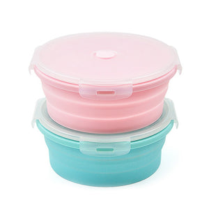 Lunch Box Colorful Fruit Salad Storage Silicone