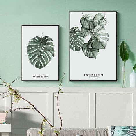 Vintage Watercolor Plant Leaves