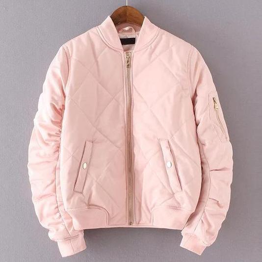Quilting Bomber Jacket