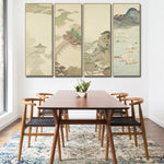 4 Peace Japanese Landscape Canvas Painting