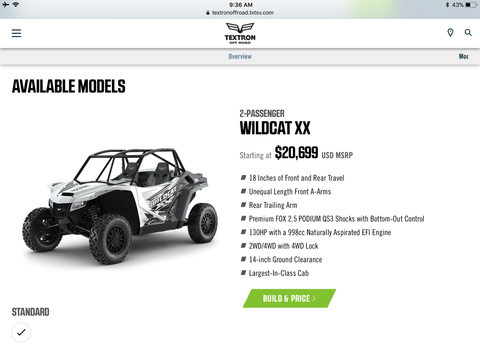 2019 Wildcat XX Base Model