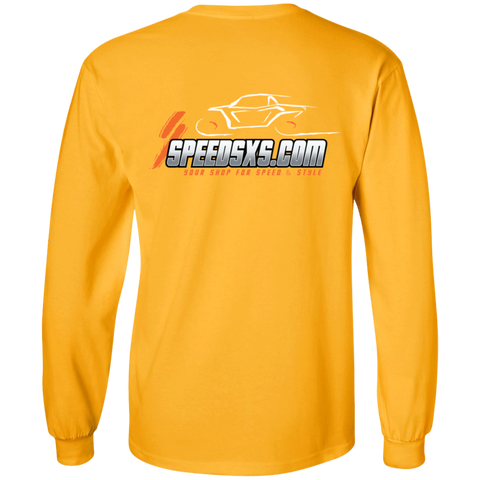 SPEED Mens' Long Sleeve Cotton T-Shirt