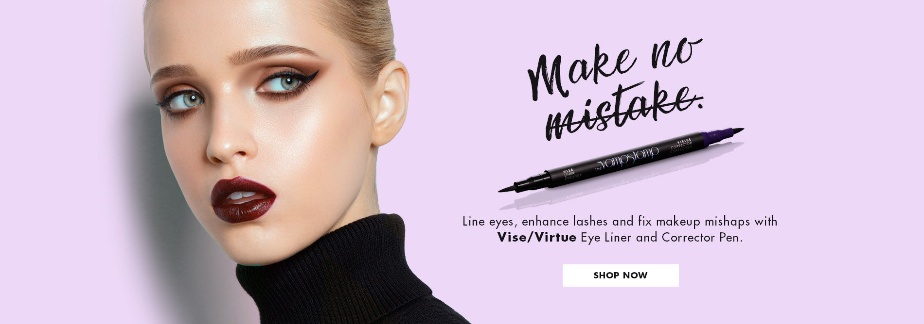 SHOP THE COLLECTION VAVAVOOM Stamp With VINKR Eyeliner Ink