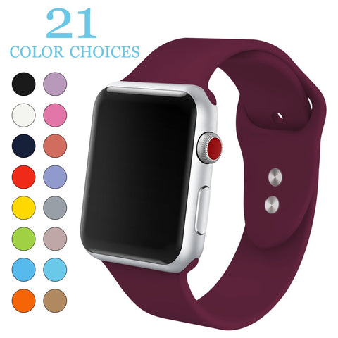 MU SEN  Apple Watch (Soft Silicone Replacement Sport Band)