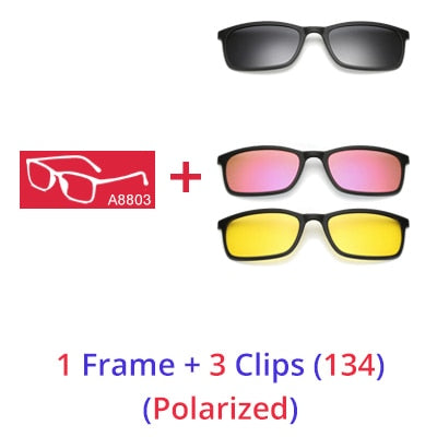 Ralferty Polarized 5 In 1 Magnetic Clip Sunglasses for Men and Women