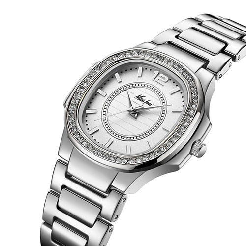 Stainless Steel Gold Female Watch