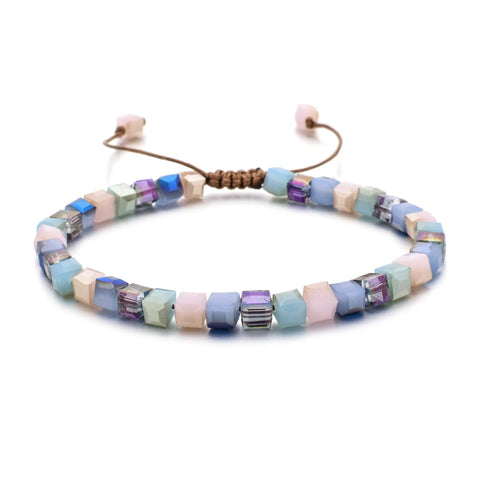 ZMZY New Fashion Style Woman Bracelet Wristband Glass Crystal Bracelets Gifts Jewelry Accessories Handmade Wristlet Trinket
