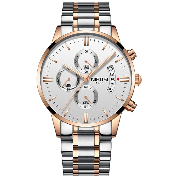 2019 NIBOSI Gold Quartz Watch Top Brand