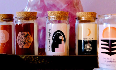 Intention Crystal Candles - Case of 3