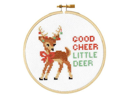 Good Cheer Little Deer Cross Stitch Kit - Case of 4