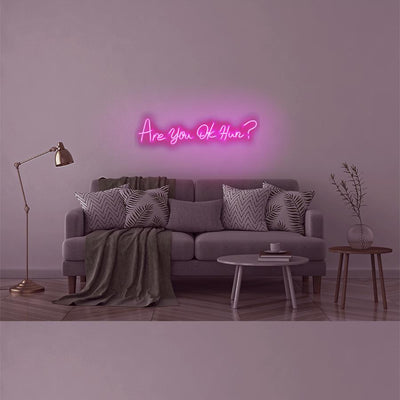 LED Wall Neon Sign 'Are You OK Hun?' - Case of 1