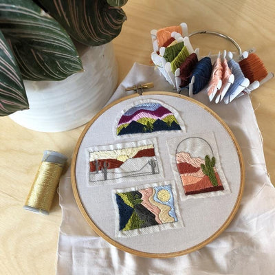 Landscape Designs DIY Embroidery Pattern - Case of 3