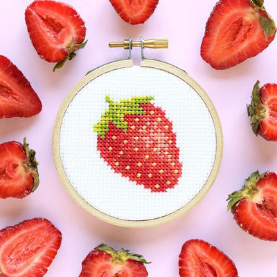 Strawberry Mini Cross Stitch Kit - Case of 4