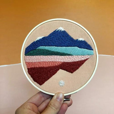 Landscape DIY Embroidery Kit - Case of 3
