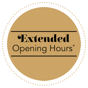 Extended Opening Hours!!