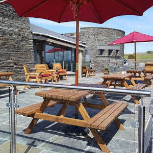 Enjoy our new patio area with great views