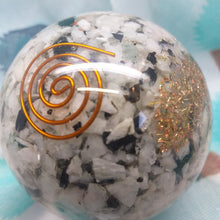 Orgonite Sphere - Rainbow Moonstone