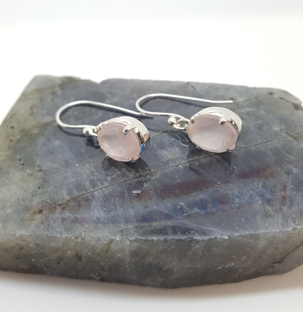 Rose Quartz drop earrings
