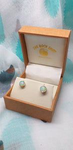 Opal Stud Earrings -